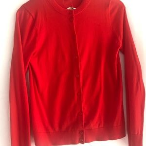 J Crew red cardigan brand new